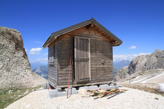 Cabane haut de piste photo