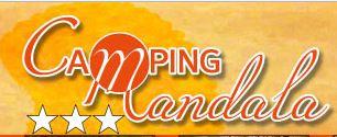 Camping mandala logo
