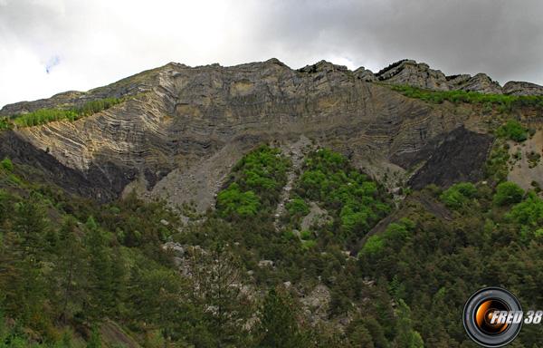Crete montagne de coupe nord photo