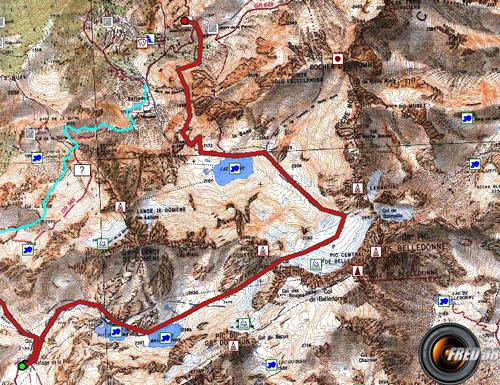 Glacier de freydane carte3