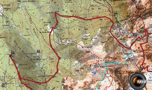 Glacier de freydane carte4
