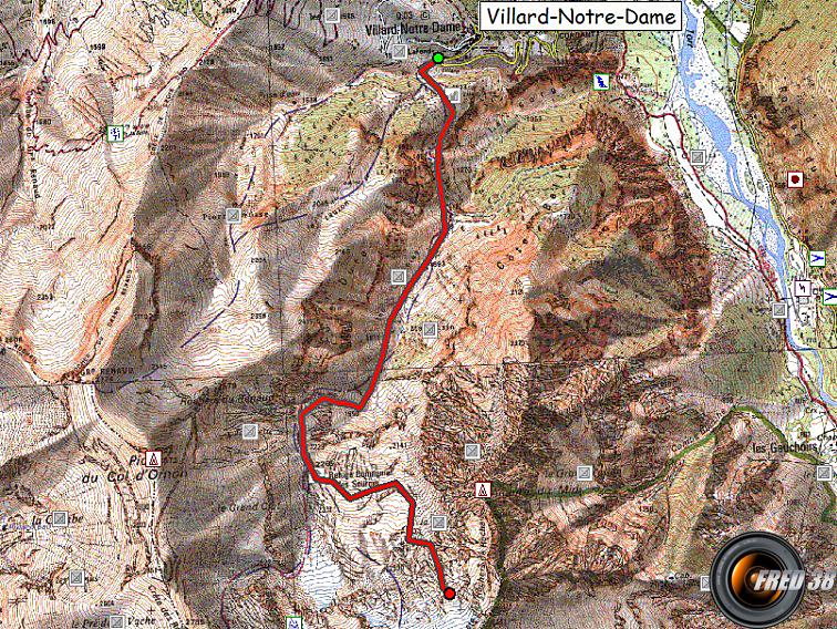 Glacier rochail carte