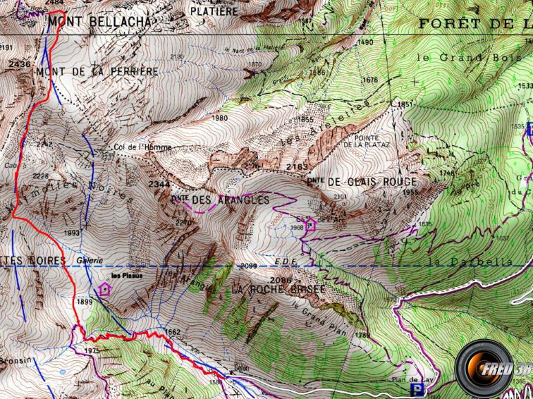 Mont bellacha maurienne carte