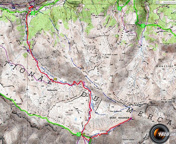 Mont mounier carte