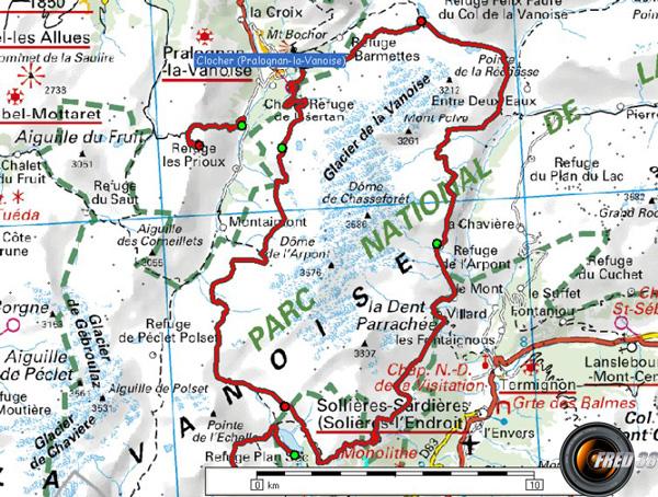Tour glacier carte0