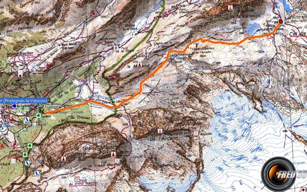 Tour glacier carte1