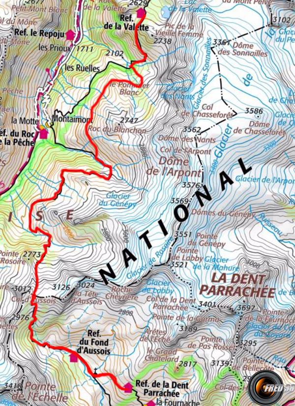Tour glacier carte4