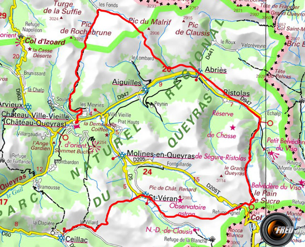 Tour queyras carte0