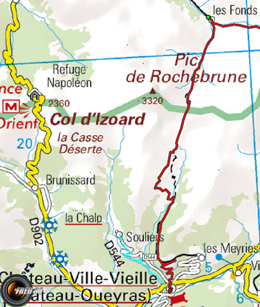 Tour queyras carte5