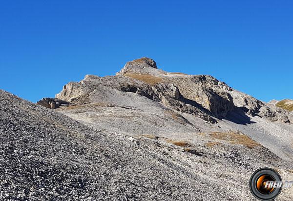 Le sommet vu côté nord