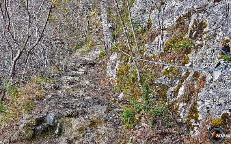 Le ruisseau sur le chemin.
