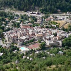 Vue sur Colmars lès Alpes.