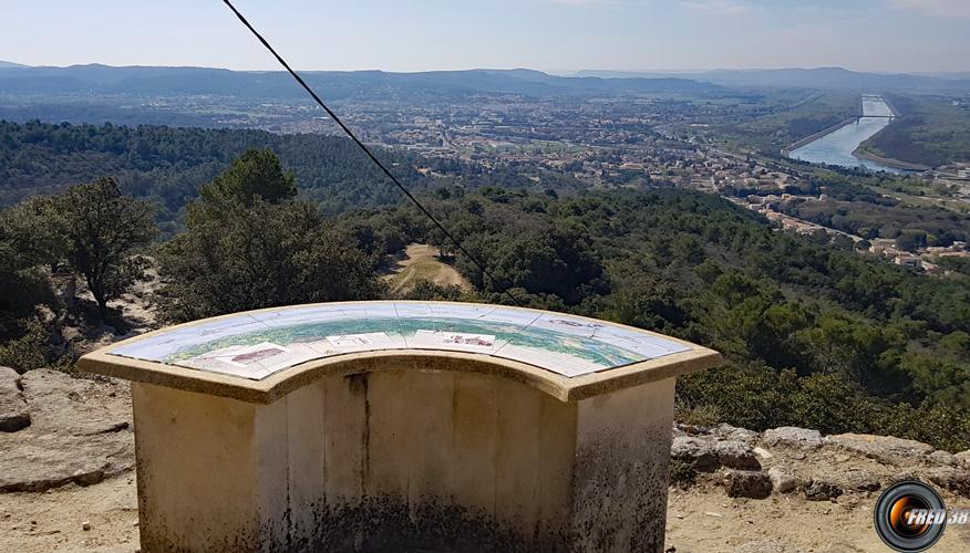 Belle vue sur la vallée du Rhône.