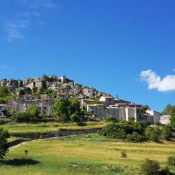 Le village de Trigance.