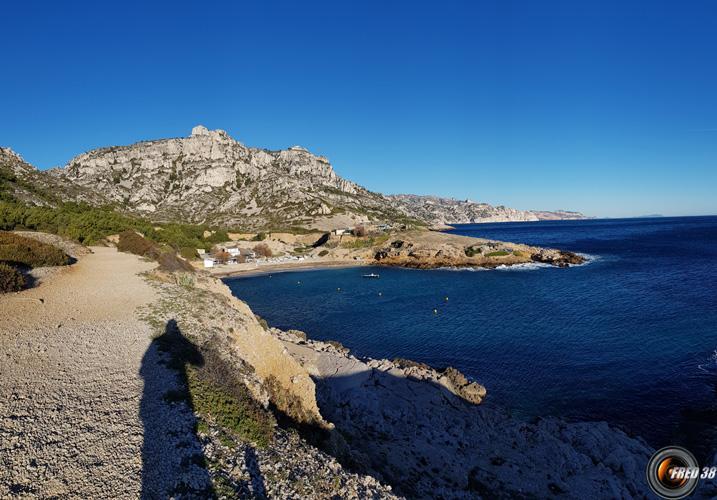 La calanque de Marseilleveyre.