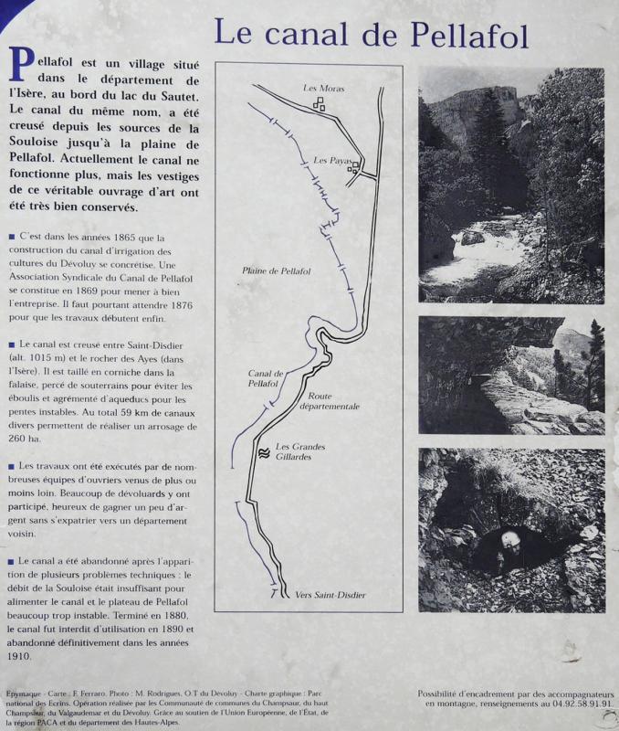 Canal pelafol panneau