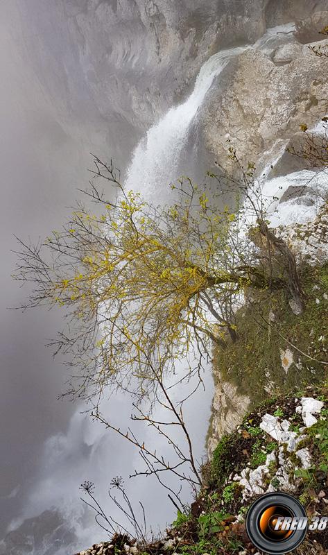 Le haut de la cascade.