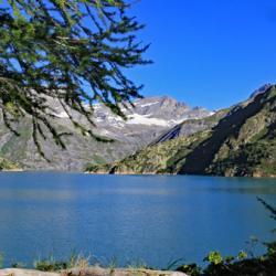 Le lac du barrage d'Emosson.