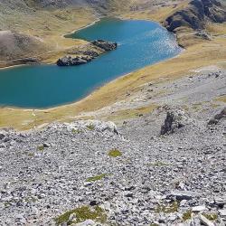 Vue sur le lac de Roburent.