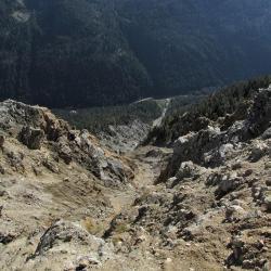Vallon de la Vésubie sous le sommet.
