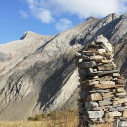 Le sommet vu de la «Croupe» de Clot Rougier.