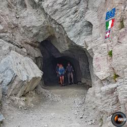 L'entrée italienne du tunnel.