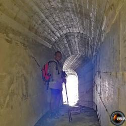 Dans le tunnel côté France.