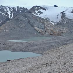 Bas du glacier de Gréboulaz.