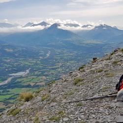 Le sommet en fond le Champsaur.
