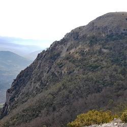 Le sommet vu des Rochers du clos du Buis.