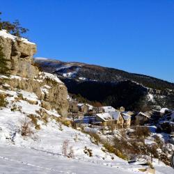 Le hameau de Peyresq.