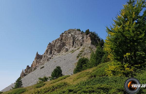 Au dessus du col de Bramousse.
