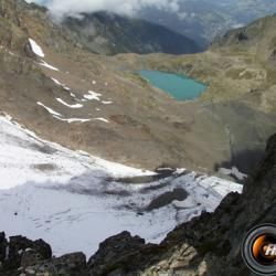 Les lacs du Doménon vus du sommet.