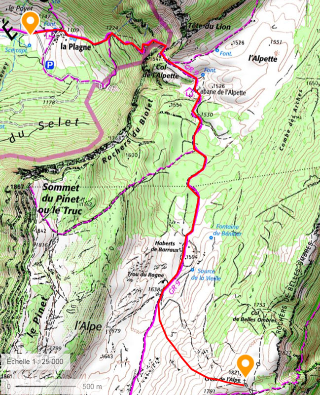 Croix de l'Alpe en raquettes