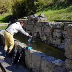 Le fontaine au départ.