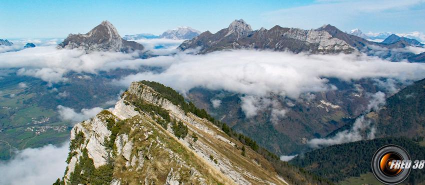 La crête vue du sommet