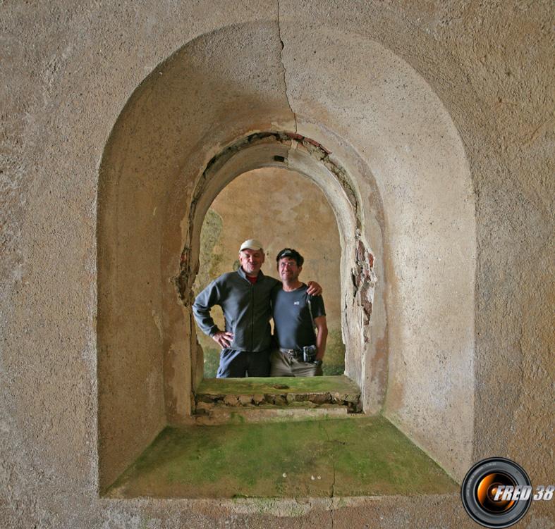 Alignement de salles dans le fort principal du col de Tende