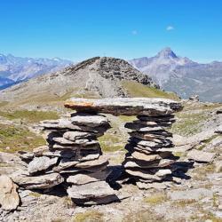 Le sommet en Fond.