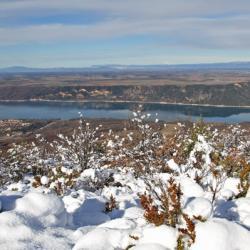 Magnifique vue sur le lac de Sainte-Croix.