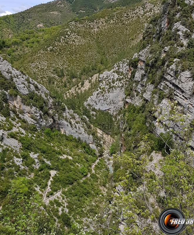 Ravin de Turquet vu du haut.