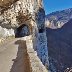 La route des gorges.