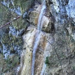 La grande cascade sur la Charminelle.