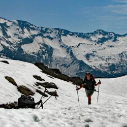 En fond le Mont Bellachat.