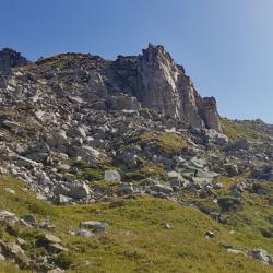 Passage rocheux après les Fontanious.
