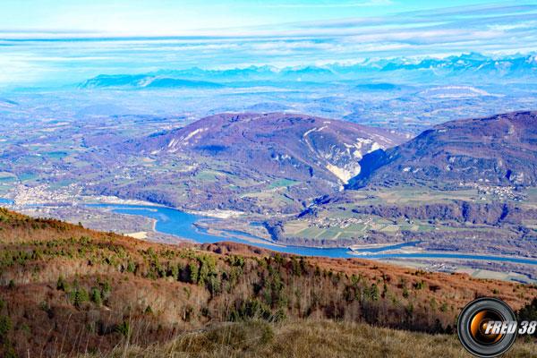 Le Rhône vu du sommet .
