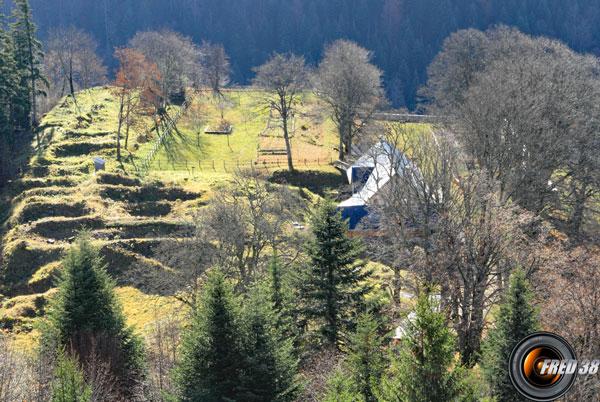 Les ruines de la Chartreuse d'Arvière.
