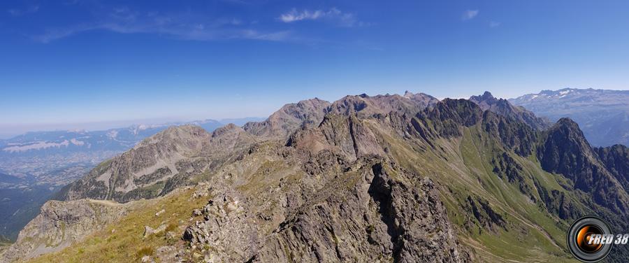 Le massif de Belledonne.