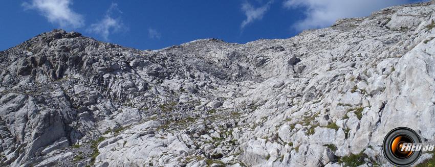 Le cheminement dans les rochers