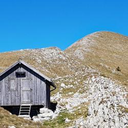 Le Jocou vu de la petite cabane située sur la crête sud.