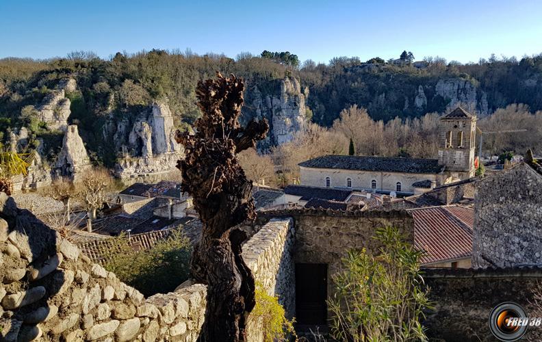 Le vieux village de Labeaume.